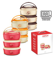 3pc Microwave Safe Hot Pot Insulated Casserole Hot Cold Food Serving Dish Set