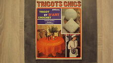 Vieux magazine : Tricots Chics n°262 - Spécial tricot et  crochet d'art - 1986