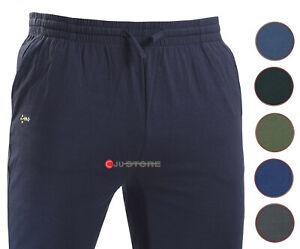 Pantalone tuta uomo FELPA cotone leggero estivo elastico TAGLIE FORTI 4 colori
