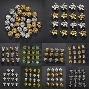 10PCs Buddha Head Lion Owl Head Alloy Loose Beads Bracelets Spacer Bead Jewelry