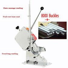 Manual U-shape Sausage Clipper Clipping Machine+8000 Buckles