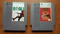 Goal! / Jordan vs Bird One on One NES 2 game sports lot.