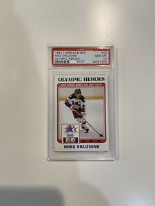 1983 Topps M & M's Olympic Heroes PSA 10 Mike Eruzione POP 13