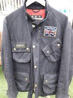 Mens Black Size Large Barbour International Union Jack Jacket