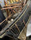 Rare 19th C. Wooden Ship Boat Model Restoration Project Parts Schooner? Clipper?
