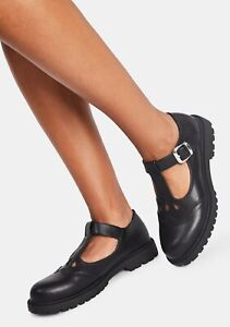 Dollskill Class is Out black Mary Janes NYLA shoes T strap size 7 90's y2k