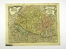 UNGARN BUDAPEST EUROPA DONAU ALTKOL KUPFERSTICH KARTE LOTTER 1762 #D916S