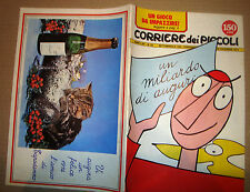 CORRIERE DEI PICCOLI 1973 NR.52 POSTER CALENDARIO/TARZANETTO/REDIPICCHE/TOTO'