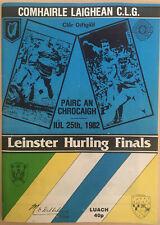 1982 GAA OFFALY v KILKENNY Hurling Leinster Final Programme