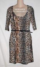 ALMOST FAMOUS – DRESS BELT SET - STRETCH ANIMAL PRINT - JR SIZE XL (15/17) – NWT