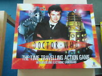DOCTOR WHO THE TIME TRAVELLING ACTION GAME BY TOY BROKERS COMPLETE VGC