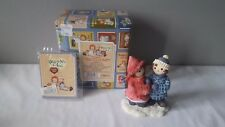"Enesco Raggedy Ann & Andy ""To Have A Friend Is To Be Happy"" Walking Figurine Box"