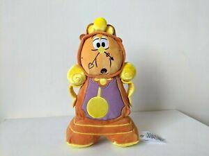 "Disney Store / Beauty & The Beast - Cogsworth Clock 10"" Plush / Soft Toy"