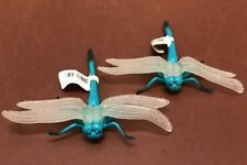 """Two Large Plastic Dragonfly Insects, Science Garden Nature """"lifelike"""""""