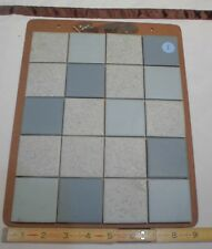Vintage Ceramic Tile *Continental Co.* 1950's  Sample colors on masonite board I