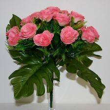 Bouquet Rose ouverte x 19  Fleurs Artificielles intérieur/extérieur