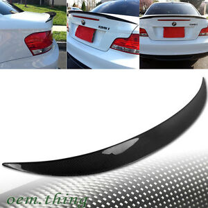 Carbon Fit FOR BMW 1-Series E82 2D Coupe P Type Trunk Spoiler 2013 120i 135i