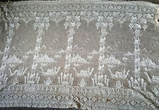 More details for 19th century lace curtains with chinese pagoda  and river pattern.