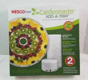Nesco TR-2 Gardenmaster Dehydrator Add-A-Tray Expansion Trays 2 Pack NEW NIB USA