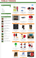 FULLY STOCKED TABLE TENNIS WEBSITE WITH 1 YEARS HOSTING & DOMAIN