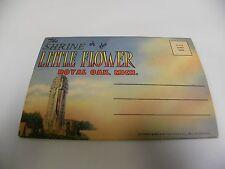 Vintage Shrine of the Little Flower Souvenir Postcard Book Royal Oak MI (A3)