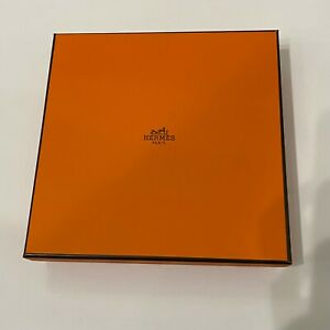"""Hermes Gift Storage Empty Box Square Belt and Buckle 8.25"""" x 8.25"""" x 1.5"""" (10)"""