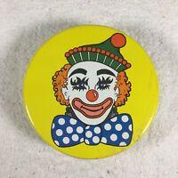 Valleybrook Farms Circus Clown Peanut Butter Fingers Tin Yellow Collectible