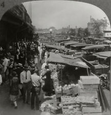 Keystone Stereoview Street Market, Washington, DC 1920's Scenic America Set # 14