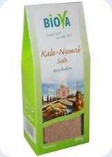 Biova Kala Namak Salz aus Indien Black Salt schwarz fein 0,3-0,5 mm 200 gr Btl.