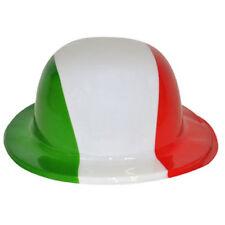 Cappello a bombetta italia tricolore in plastica