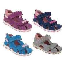 Sandales gris en cuir pour fille de 2 à 16 ans