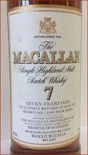 1 b. MACALLAN 7 years Single Malt Scotch Whisky sherry oak import MAXXIUM Milano