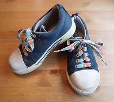 Kids Keds Tennis Shoes Sz 10 Vintage? Bumpers Canvas Blue White SpongeBob Laces