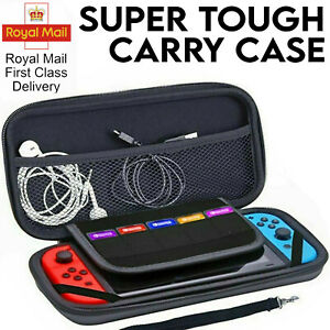 Black Nintendo Switch Case Slim Armor EVA Hard Travel Cover Carrying Tough