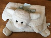 Bearington Baby Collection Lamby Belly Blanket Plush Play Mat Tummy Lovey Lamb