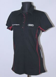AUDI Sport Quattro womens racing official polo shirt Size L