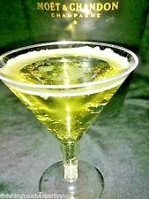 12 Large 200ml Disposable Clear Plastic Martini Cocktail Glasses James Bond