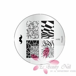 Konad Image Plate M98 Stamping Disc DIY Salon No.1 Nail Art UK Better than MoYou