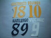 KIT NOMI+NUMERI UFFICIALI LECCE HOME/AWAY/3RD 2004-2010 OFFICIAL NAMESET PL SZ