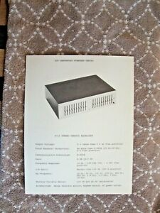 1970's LUX Luxman G-11 Lab Equalize 1 Sided Page Flyer Pamphlet Brochure