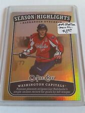 2008-09 O-Pee-Chee Season Highlights #SH2 Alexander Ovechkin Washington Capitals