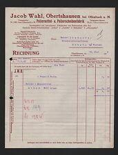 OBERTSHAUSEN, Rechnung 1923, Jacob Wahl Poliermittel-Fabrik
