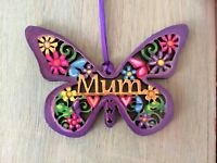 Laser Cut Ply Wood Personalised Butterfly Unique Gift Idea Mother's Day Any Name
