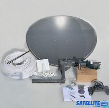 Freesat / Sky 60cm zone 1 satellite dish & quad lnb + 30m Single White Coax kit