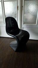 Verner Panton Chair / Stuhl von 1973, Fehlbaum Herman Miller schwarz glänzend