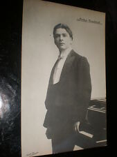 Old postcard piano pianist Arthur Newstead c1912 with Dover recital review