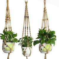 Pot Holder Macrame Plant Wall Hanging Planter Basket Handcrafted Jute Rope Decor
