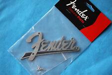 Fender Flat Amp Logo Black for Fender Amps, Screws Included, MPN 0994095000