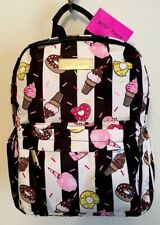 BETSEY JOHNSON JUST DESSERTS NYLON TRAVEL SCHOOL BACKPACK NWT