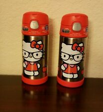 2pc Lot NEW Hello Kitty Thermos Funtainer Vacuum Insulated Stainless Steel 12oz